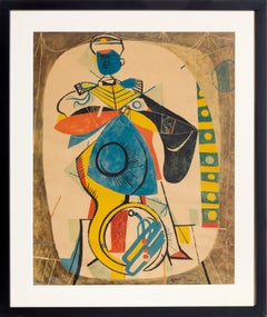 Sousaphone Player in Marching Band, Modern Print by Byron Browne