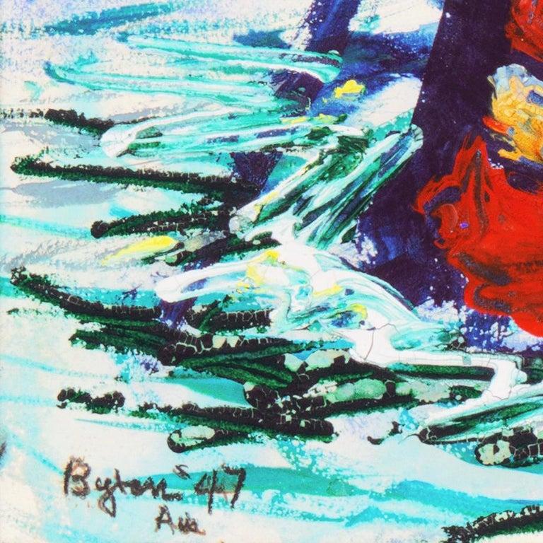 'Fremantle Harbor', Post Impressionist, San Francisco California, SFAA, MOMA - Painting by Byron Randall