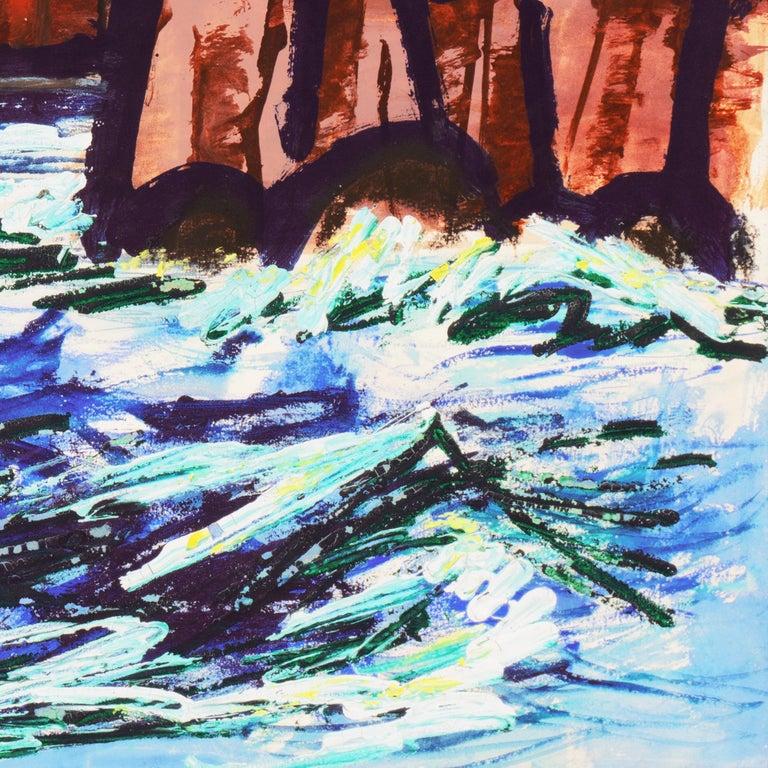 'Fremantle Harbor', Post Impressionist, San Francisco California, SFAA, MOMA For Sale 1