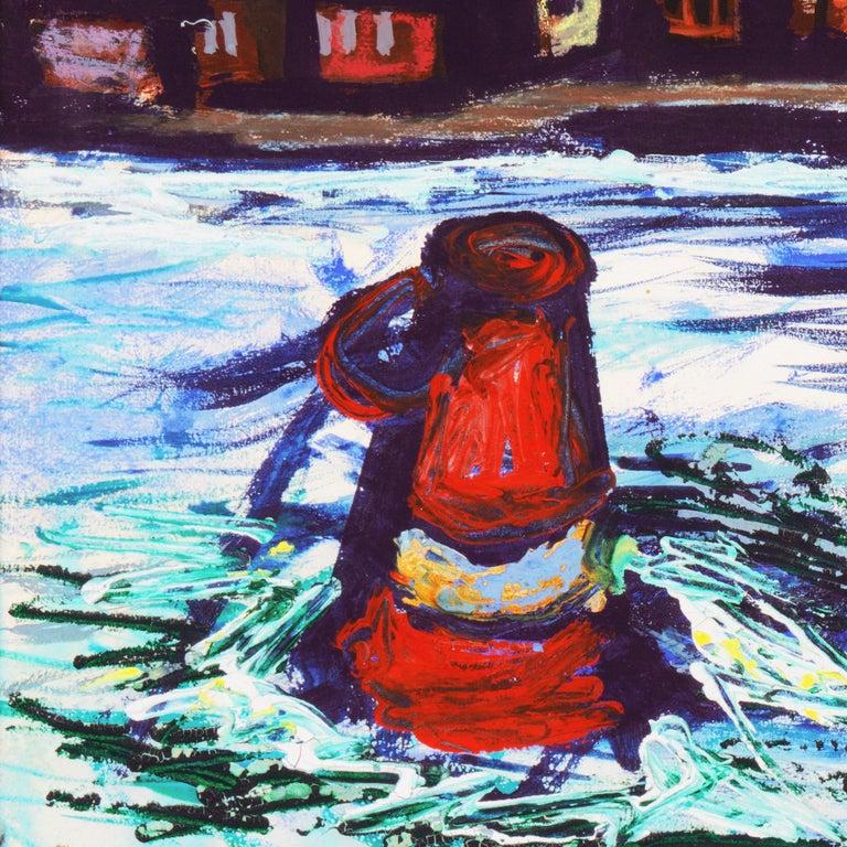 'Fremantle Harbor', Post Impressionist, San Francisco California, SFAA, MOMA For Sale 2