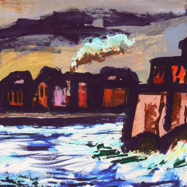 'Fremantle Harbor', Post Impressionist, San Francisco California, SFAA, MOMA For Sale 3