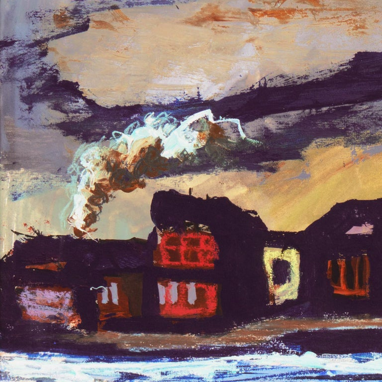 'Fremantle Harbor', Post Impressionist, San Francisco California, SFAA, MOMA For Sale 4