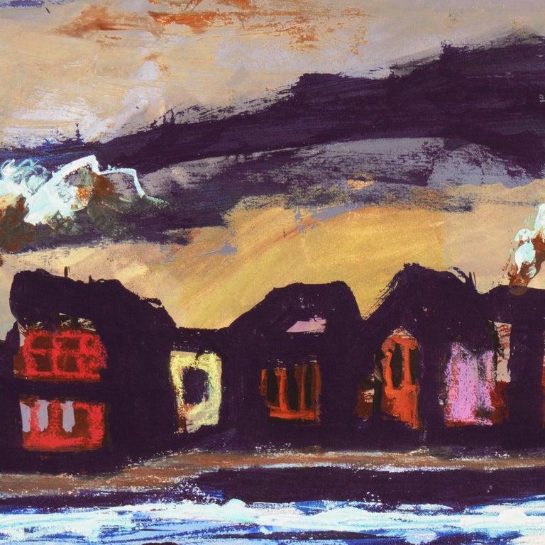 'Fremantle Harbor', Post Impressionist, San Francisco California, SFAA, MOMA For Sale 5