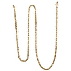 Byzantine 18 Karat Yellow Gold Link Necklace