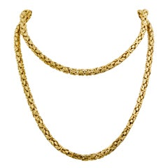 Byzantine 18 Karat Yellow Gold Necklace