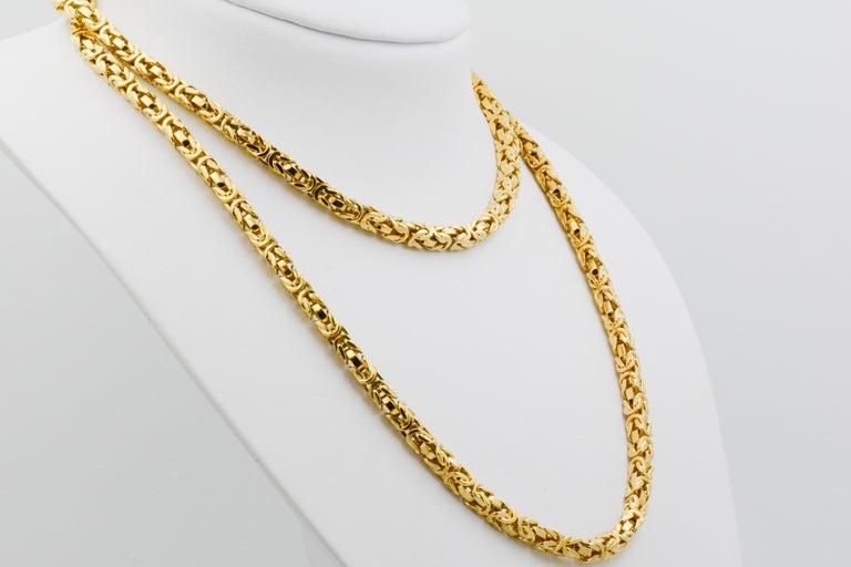 Modern Byzantine 18 Karat Yellow Gold Necklace For Sale
