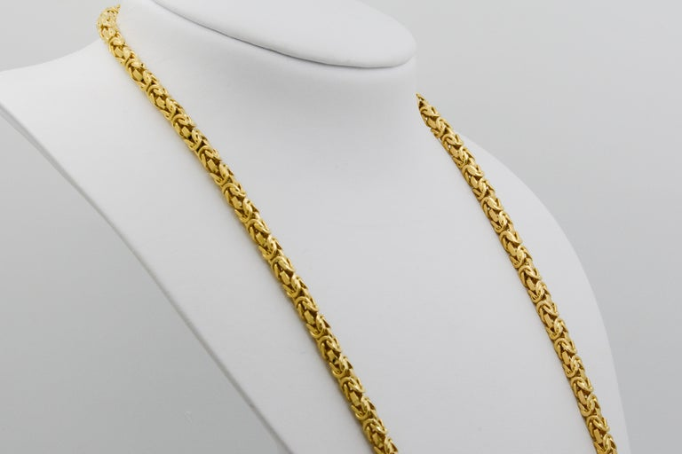 Byzantine 18 Karat Yellow Gold Necklace In Good Condition For Sale In Dallas, TX