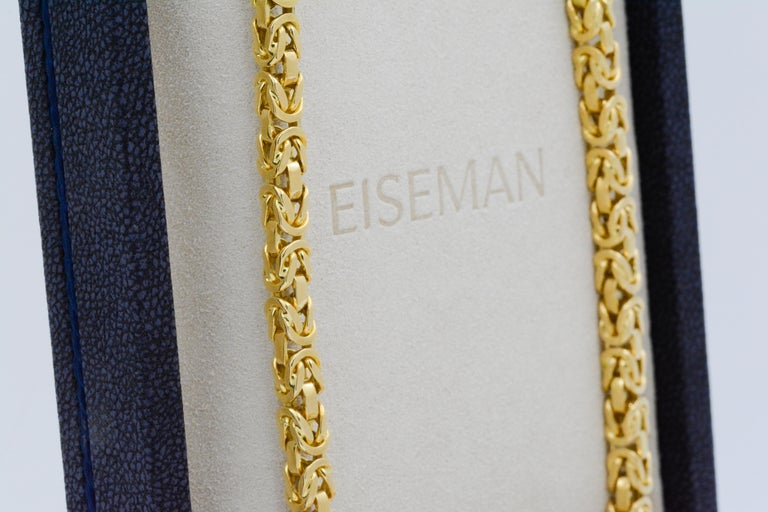 Women's or Men's Byzantine 18 Karat Yellow Gold Necklace For Sale