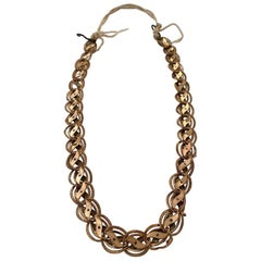 Byzantine Antique Necklace Golden Jewelery