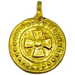 Byzantine Gold Medallion of the Cross of Saint Cuthbert, 6th-7th Century A.D.