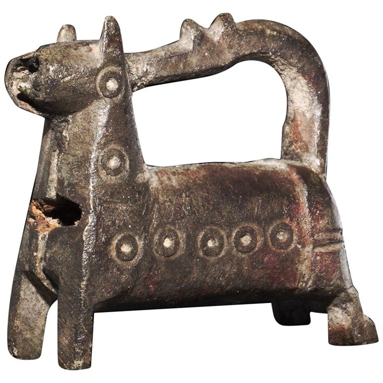 Byzantine Rare Standing Horse Barrel Lock, Fine Condition, 8th-9th Century AD For Sale