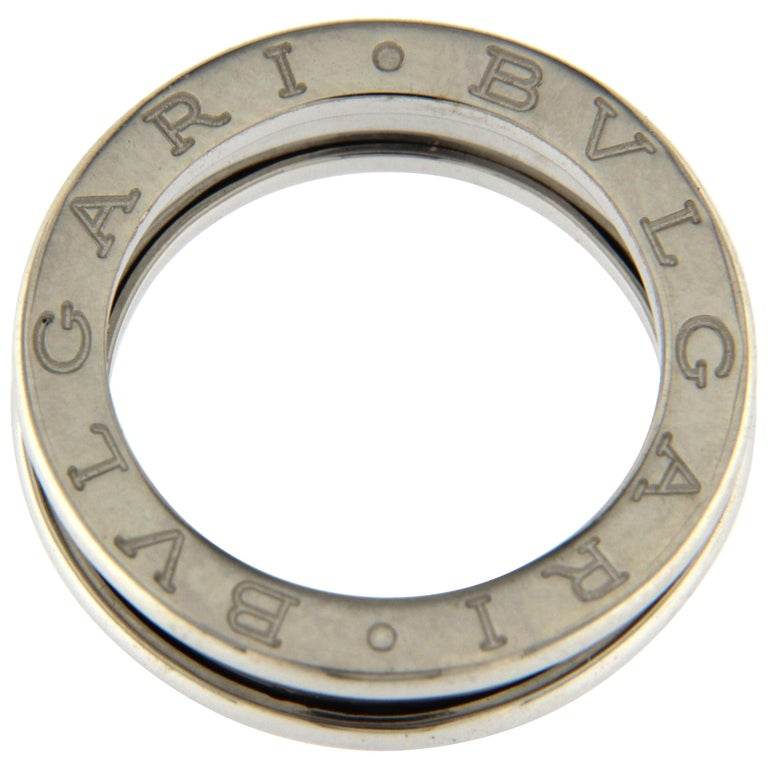BZERO1 Ring 18 Karat White Gold 1 Band For Sale