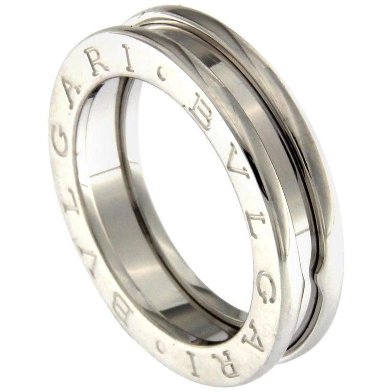 BZERO1 Ring 18 Karat White Gold 3 Band For Sale