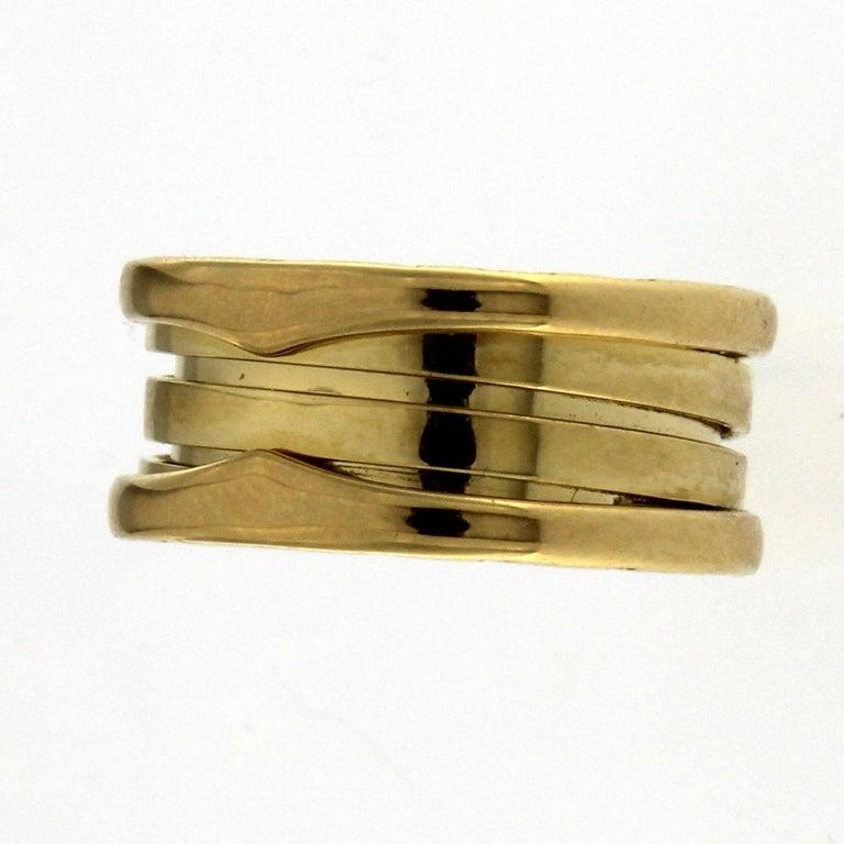 Bzero1 Ring 18 Karat Yellow Gold 3 Band For Sale 6