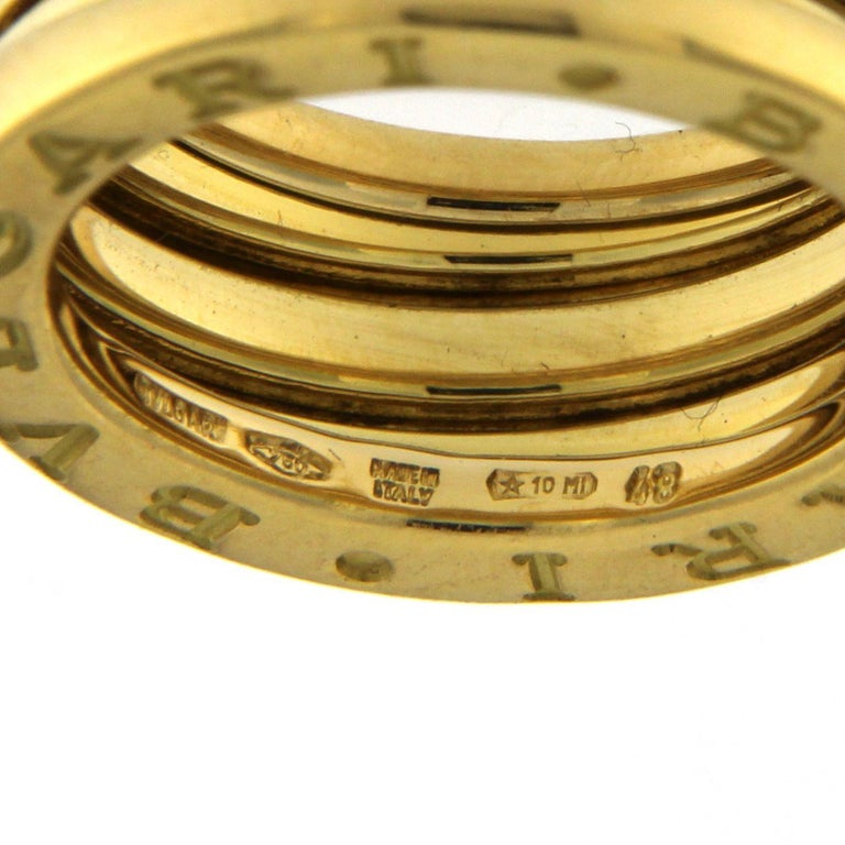 Bzero1 Ring 18 Karat Yellow Gold 3 Band For Sale 7