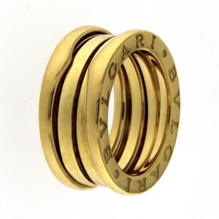 BZERO1 ring 18kt yellow gold       size 46        3 Band