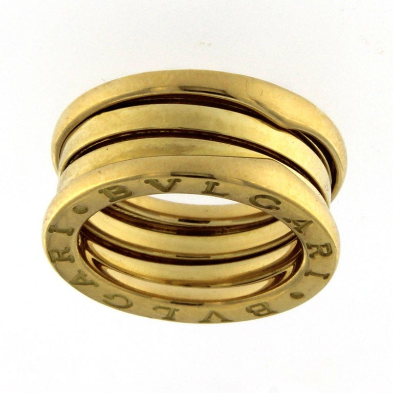Bzero1 Ring 18 Karat Yellow Gold 3 Band In New Condition For Sale In Milan, IT