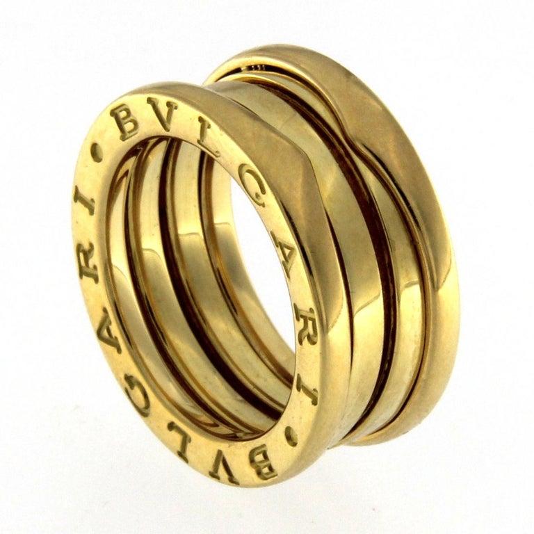 BZERO1 Ring 18 Karat Yellow Gold 3 Band For Sale 1