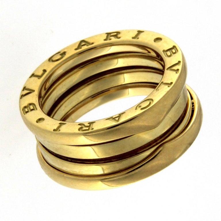 BZERO1 Ring 18 Karat Yellow Gold 3 Band For Sale 2