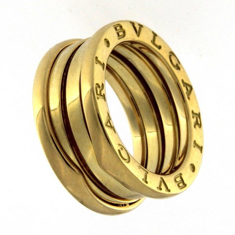 Bzero1 Ring 18 Karat Yellow Gold 3 Band For Sale 3
