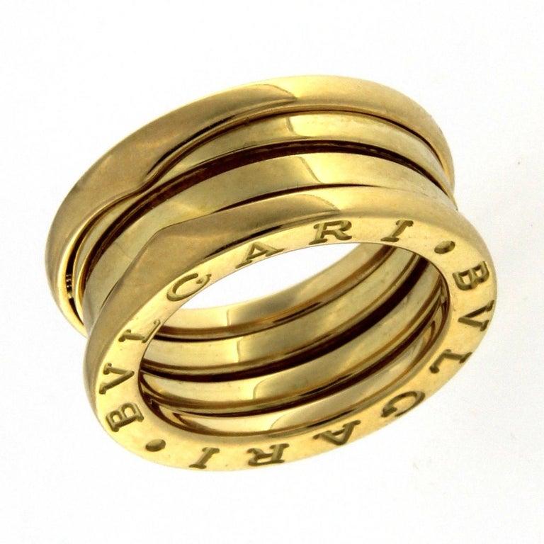 Bzero1 Ring 18 Karat Yellow Gold 3 Band For Sale 4