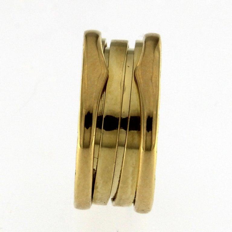 Bzero1 Ring 18 Karat Yellow Gold 3 Band For Sale 5