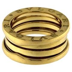 BZERO1 Ring 18 Karat Yellow Gold 3 Band
