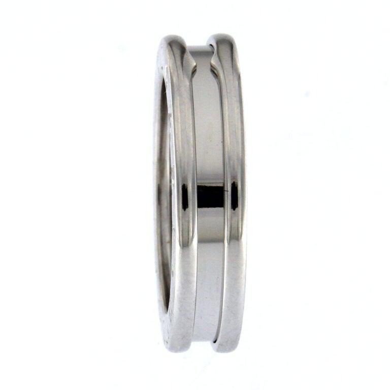 BZERO1 Ring 18 Karat White Gold 1 Band For Sale 6