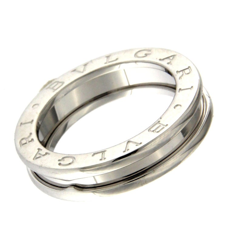BZERO1 ring 18kt white gold       size 46        1 Band