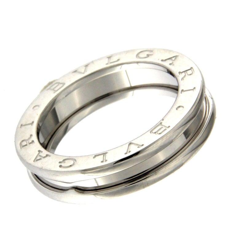 BZERO1 ring 18kt white gold       size 46        3 Band
