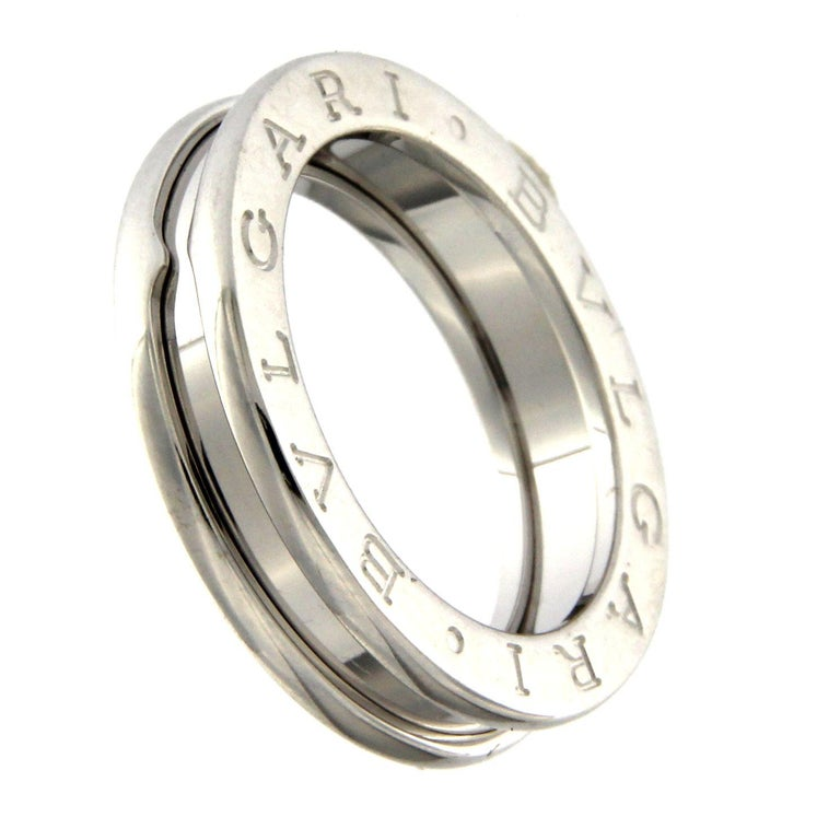BZERO1 Ring 18 Karat White Gold 3 Band In New Condition For Sale In Milan, IT
