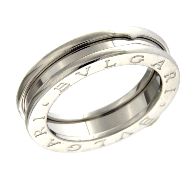 Women's or Men's BZERO1 Ring 18 Karat White Gold 3 Band For Sale
