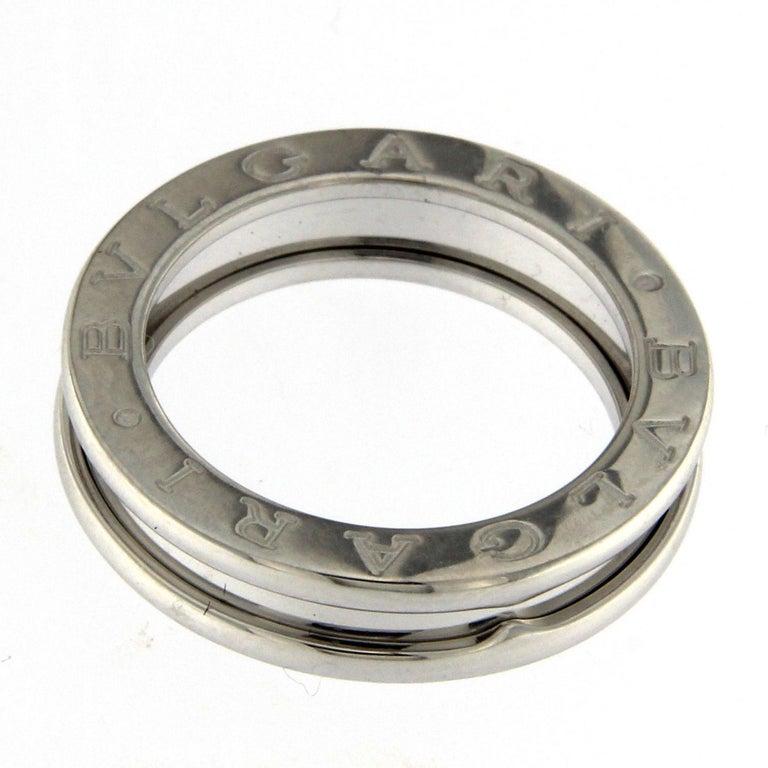 BZERO1 Ring 18 Karat White Gold 3 Band For Sale 1