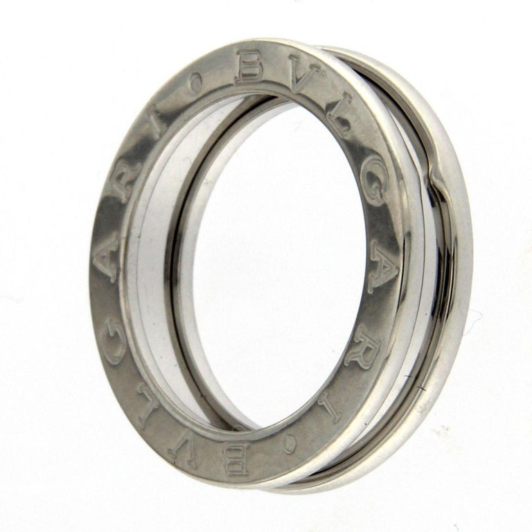 BZERO1 Ring 18 Karat White Gold 3 Band For Sale 4