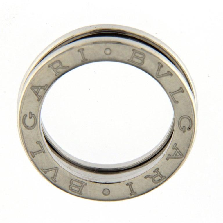 Women's or Men's BZERO1 Ring 18 Karat White Gold 1 Band For Sale