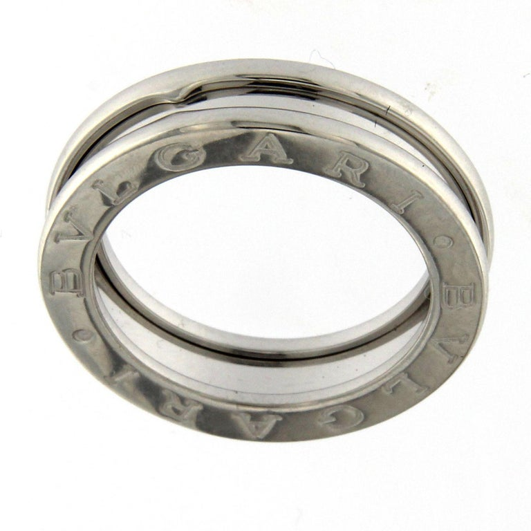 BZERO1 Ring 18 Karat White Gold 1 Band For Sale 3