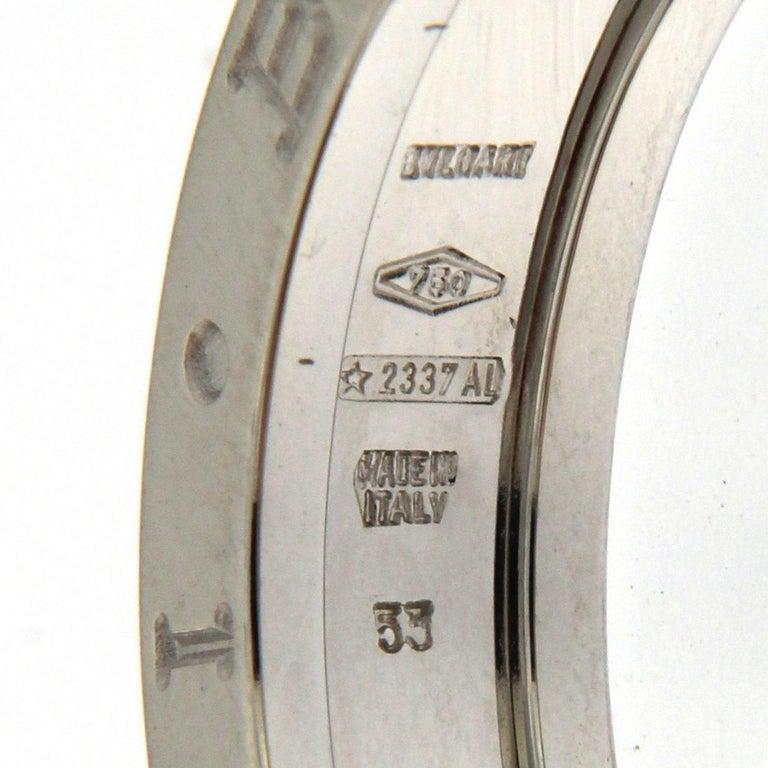 BZERO1 Ring 18 Karat White Gold 1 Band For Sale 7