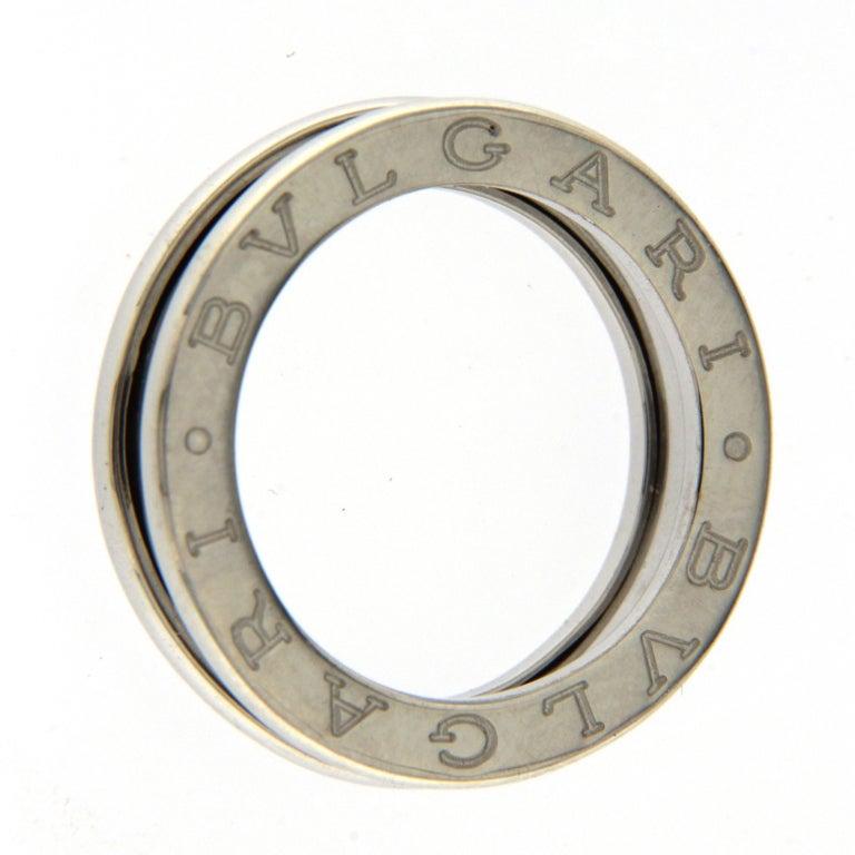BZERO1 ring 18kt white gold       size 53       1 Band
