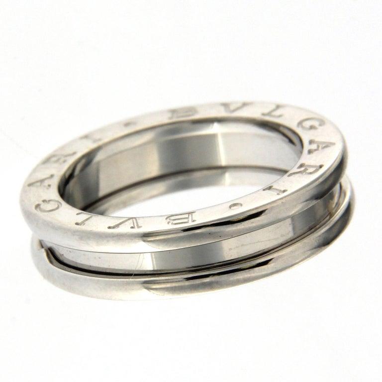 Bzero1 Ring 18 Karat White Gold 1 Band For Sale 2