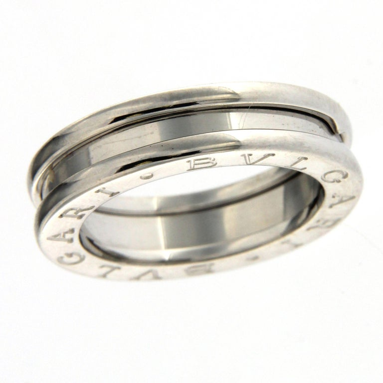 Bzero1 Ring 18 Karat White Gold 1 Band For Sale 4