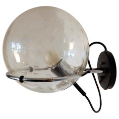 C-1725 Basket-Bol Wall Lamp with Raindrop Glass Bowl by RAAK, 14 Available