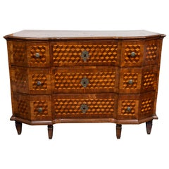 Parquetry Veneered Italian Commode, circa 1800