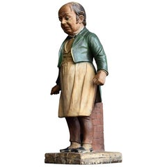 Austrian Terracotta Butchers Figure Attributed to Bernard Bloch, circa 1880