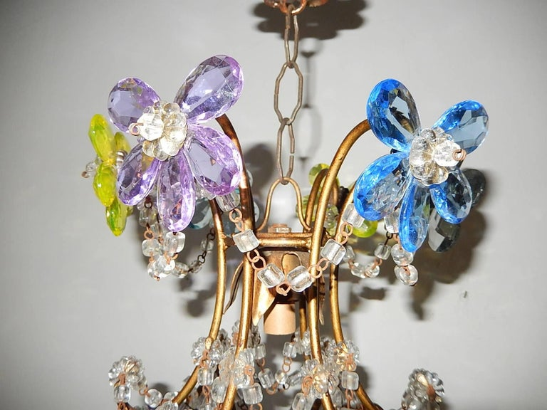 French maison bagues style multicoloured crystal prism flowers french maison bagues style multicoloured crystal prism flowers chandelier 1900 for sale 2 aloadofball Choice Image