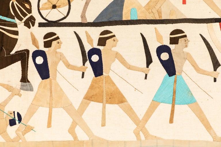 Egyptian Revival Textile Panel, circa 1920s For Sale 1