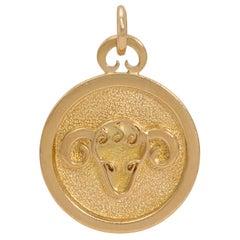 C. 1970 Georges Delrue 18 Karat Gold Aries Pendant
