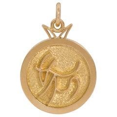 C. 1970 Georges Delrue 18 Karat Gold Capricorn Pendant