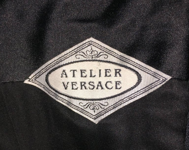 Women's Atelier Versace Black Minimalist 1950s Style A-line Strapless Dress, Circa 1999 For Sale