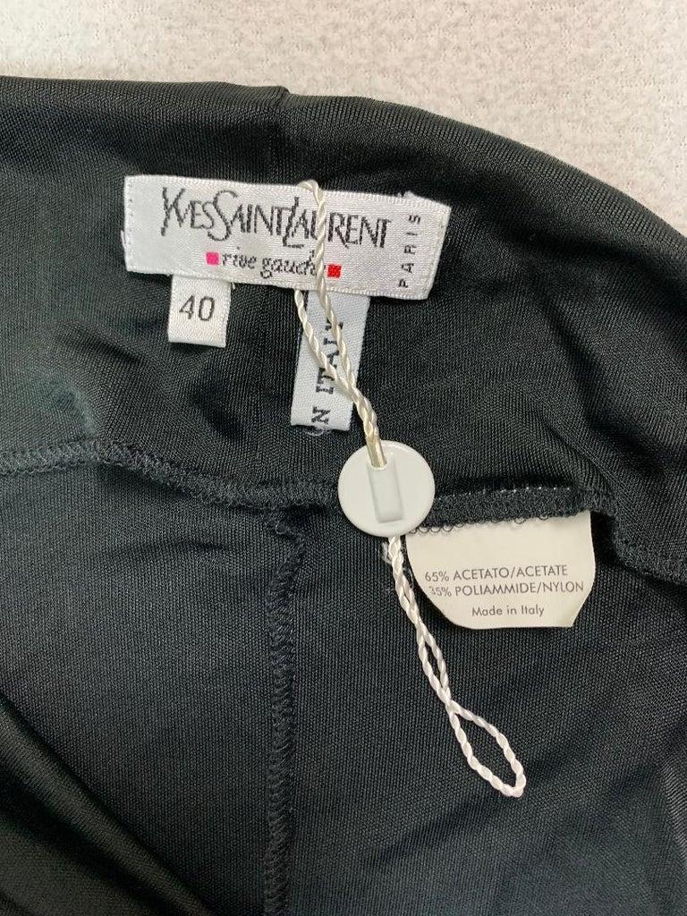 Women's C 2001 Yves Saint Laurent Tom Ford Sheer Black Ultra Low Rise Asymmetrical Skirt For Sale
