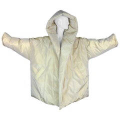 C. 2002 Gucci by Tom Ford Gold Silk Hooded Puffer Coat Jacket
